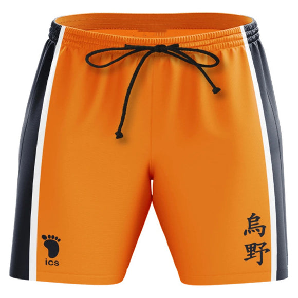 Unisex Haikyuu!! Summer Beach Shorts Karasuno High School Cosplay Shorts Casual Short Pants