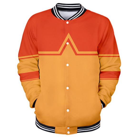 Unisex Avatar: The Last Airbender Aang Cosplay Jacket Sportswear Costumes Coat 3D Print Jacket Sweatshirt