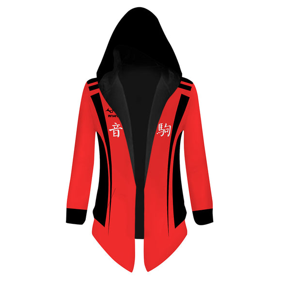 Unisex Haikyuu!! Hooded Coat Kuroo Tetsurou Cosplay Outwear Wind Jacket
