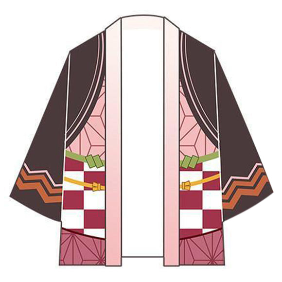 Demon Slayer: Kimetsu no Yaiba Kamado Nezuko Cosplay Costume Men Women Cardigan Jackets Japanese Kimono