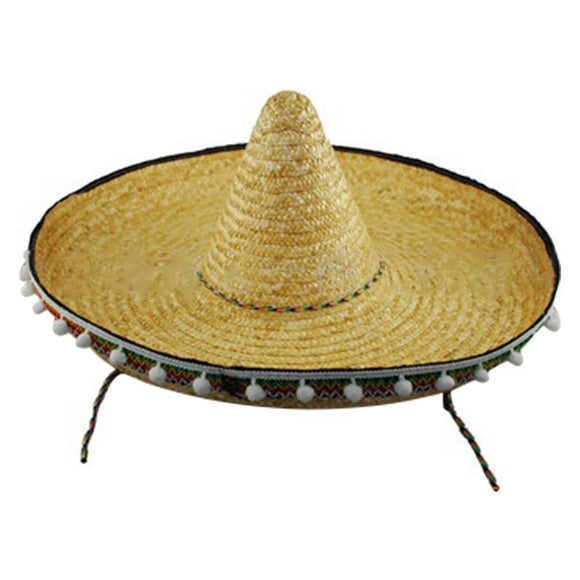 Giant Jumbo Sombrero Hat Zapata Straw Spanish Mexican Adult Costume Accessory-Fandomsky
