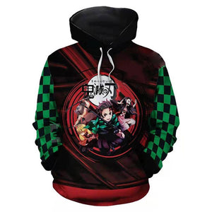 Unisex Demon Slayer: Kimetsu no Yaiba Hoodies Pullover 3D Print Jacket Sweatshirt