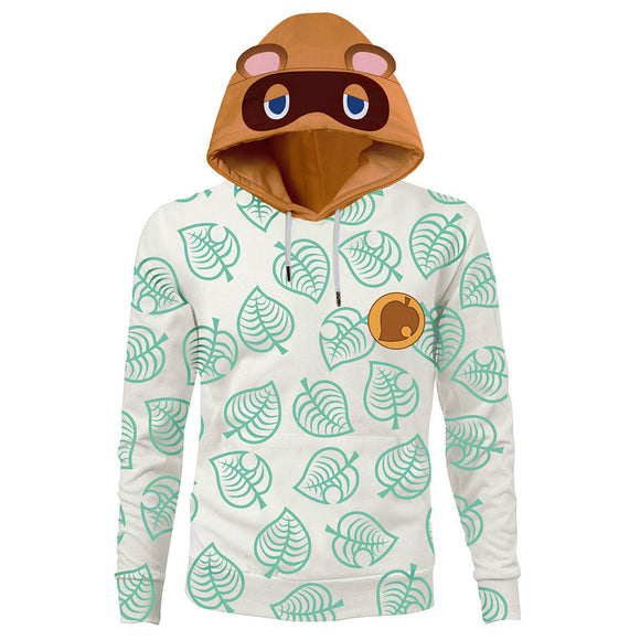 Unisex Animal Crossing Hoodies Tom Nook Cosplay Pullover 3D Print Hooded Sweatshirt