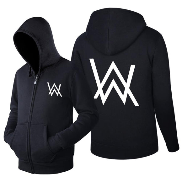 Unisex Alan Walker Hoodie Jacket Fleece Coat Adult Sweatshirt-Fandomsky