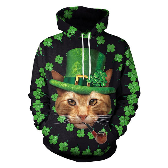 St Patrick's Day Unisex 3D Digital Print Pullover Hoodies Pockets Sweatshirt-Fandomsky