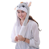Funny Plush Hamster Hat Cap Party Gift Halloween Christmas Novelty Party Dress up Cosplay-Fandomsky