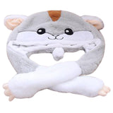 Funny Plush Hamster Hat Cap Party Gift Halloween Christmas Novelty Party Dress up Cosplay