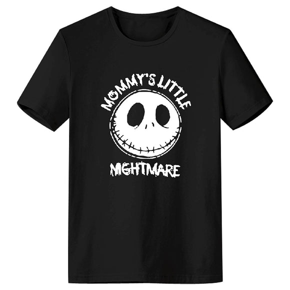 Unisex T-shirt Movie The Nightmare Before Christmas Skull Printed T-shirt