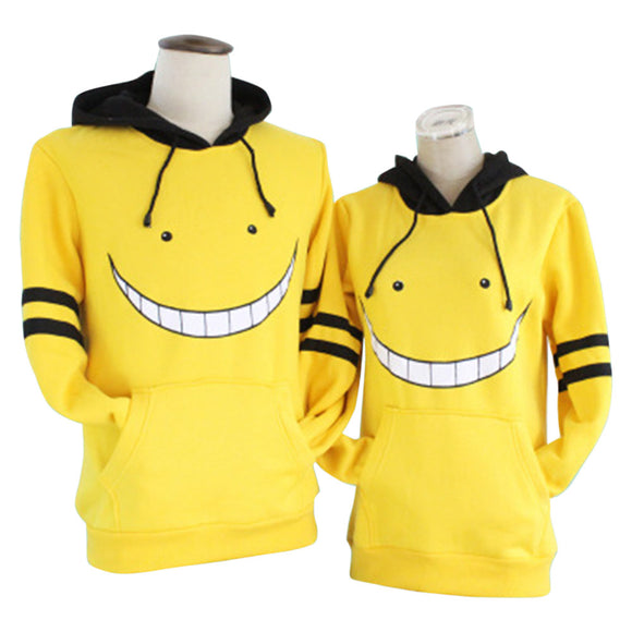 Unisex Assassination Classroom Korosensei Cosplay Hoodies Long Sleeve Pullover Sportswear Casual Sweatshirt