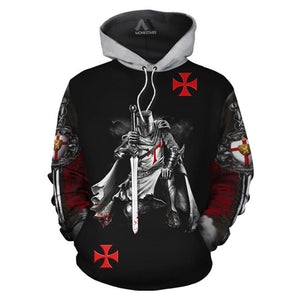 Unisex Knights Templar Art 3D All Over Printed Hoodie Shirts-Fandomsky