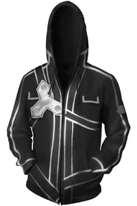 Anime Sword Art Online SAO Sweater Hooded Hoodie Cosplay Costume Jacket-Fandomsky