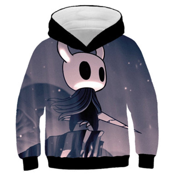 Kids Hollow Knight Cosplay Hoodies Boys Girls Long Sleeve Casual Pullover Sweatshirt
