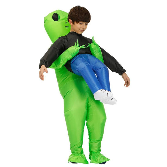 Alien Inflatable Costumes Fancy Costume Halloween Cosplay Fantasy Costume for Kids