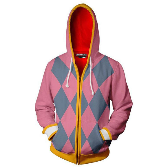 Unisex Hauru Cosplay Hoodies Howl's Moving Castle Zip Up 3D Print Jacket Sweatshirt