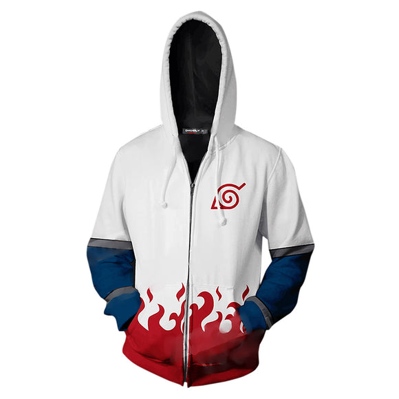 Unisex Naruto Hoodies 3D Print Pullover Sweatshirt Outfit Fourth Hokage Cosplay Casual Outerwear