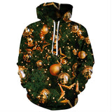 Men Ugly Christmas Sweater Letter Print 3D Graphic Print Hoodie-Fandomsky