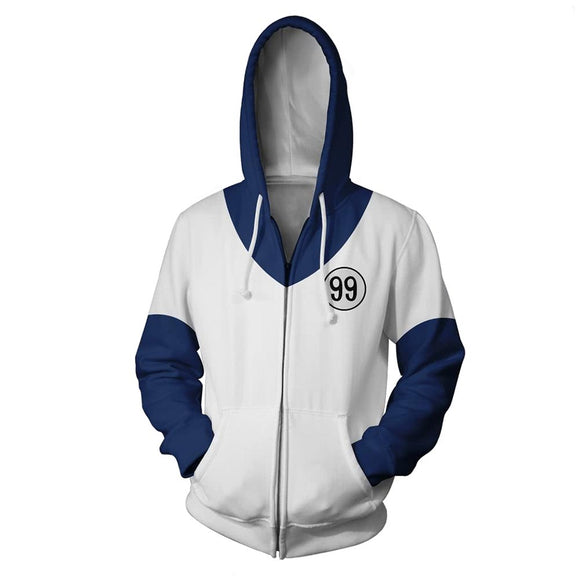 Unisex Killua Zoldyck Cosplay Hoodies HUNTER×HUNTER Zip Up 3D Print Jacket Sweatshirt