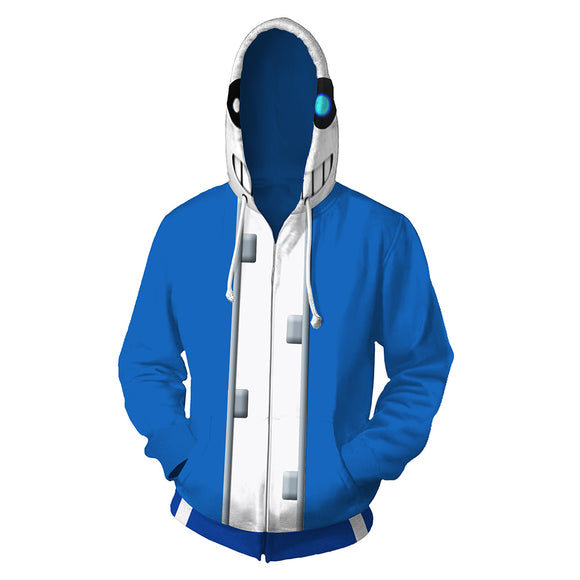 Unisex Undertale Hoodies 3D Print Zip Up Sweatshirt Outfit Sans Cosplay Casual Outerwear