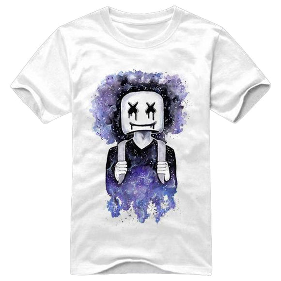 DJ Marshmello Fans T-Shirt Electric Music EDM Tee Cool Street Fashion Top-Fandomsky