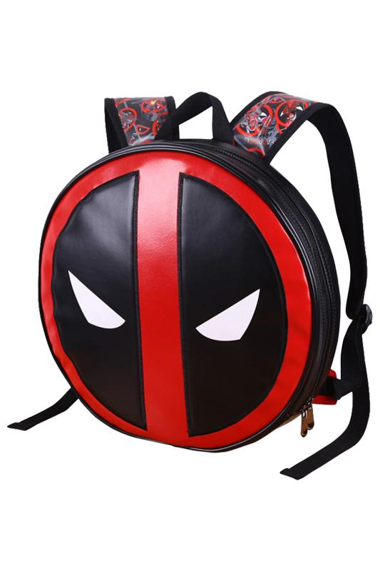 Movie Marvel Deadpool Fashion Mask Backpack Colorful