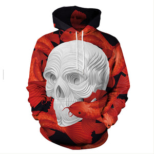 Unisex 3D Print Death Knight Skeleton Hoodie Hooded Shirt