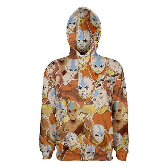 Unisex Avatar: The Last Airbender Hoodies 3D Print Pullover Sweatshirt Outfit Aang Printed Casual Outerwear
