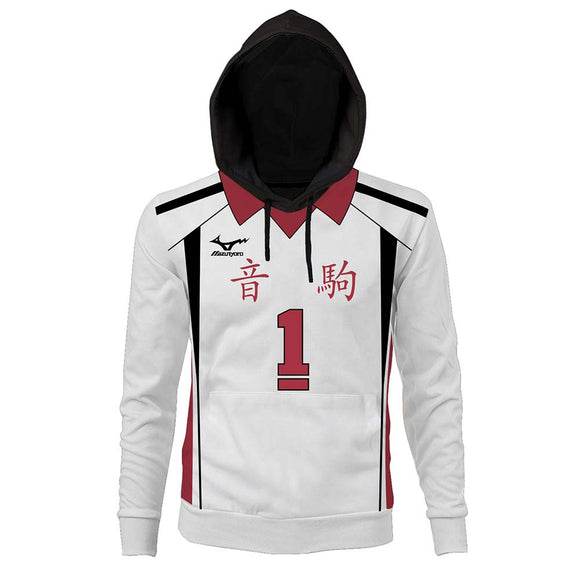 Unisex Haikyuu!! TO THE TOP Nekoma High School Uniform Kuroo Tetsurou Cosplay Hoodies 3D Print Pullover Casual Outfit