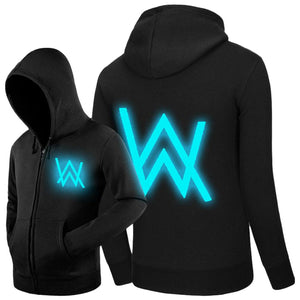 Unisex Alan Walker Hoodie Jacket Fleece Coat Adult Sweatshirt Luminous Style