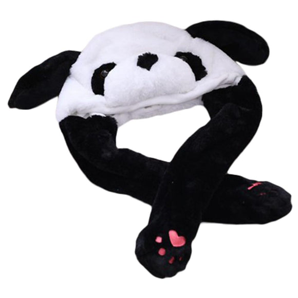 Funny Plush Panda Hat Cap Party Gift Halloween Christmas Novelty Party Dress up Cosplay-Fandomsky