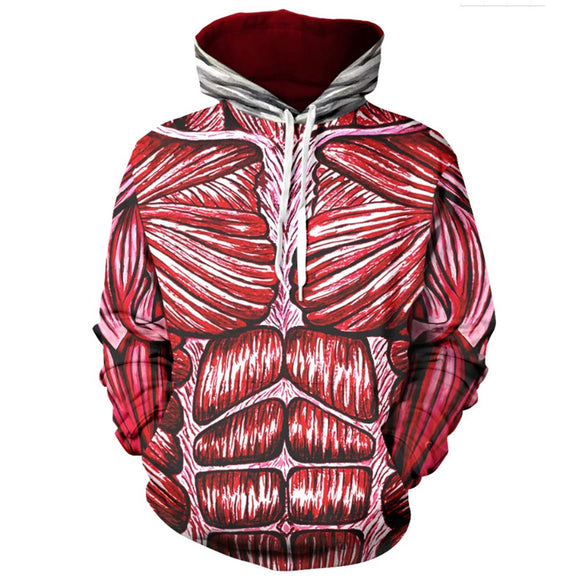 Unisex Anime Attack on Titan Hoodies Cosplay Pullover 3D Print Jacket Sweatshirt