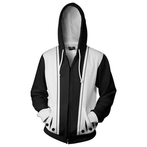 Bleach Hoodies - Kenpachi Zaraki 11th Division Zip Up Hoodie-Fandomsky