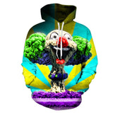 Kids Halloween Hoodies Color Clown Printed Sweatshirts Fashion Casual Tracksuits Streetwear