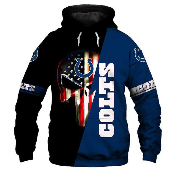 Unisex Punisher Cosplay Hoodies Men Women Long Sleeve Casual Pullover Sweatshirt