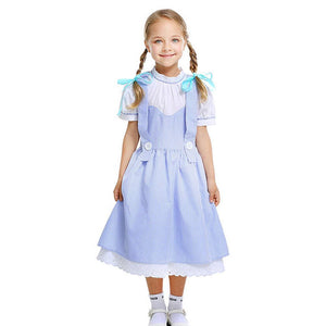 Kids Wizard of Oz Dorothy Gale Dress Costumes Cosplay Halloween Party Dress Costume