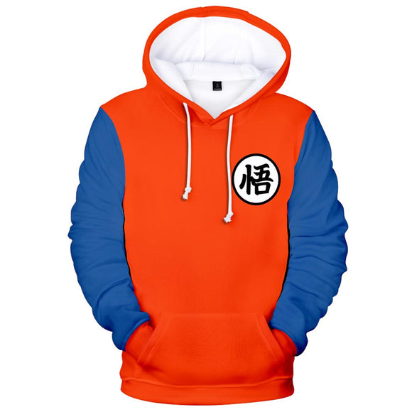 Unisex Son Goku Cosplay Hoodies Dragon Ball Pullover 3D Print Jacket Sweatshirt