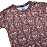 Men's Halloween Skull Pattern Skeleton Printed T-Shirt-Fandomsky