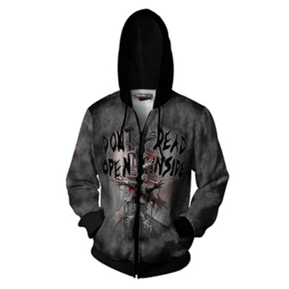 Unisex The Walking Dead Hoodies 3D Print Zip Up Sweatshirt Outfit Cosplay Casual Outerwear