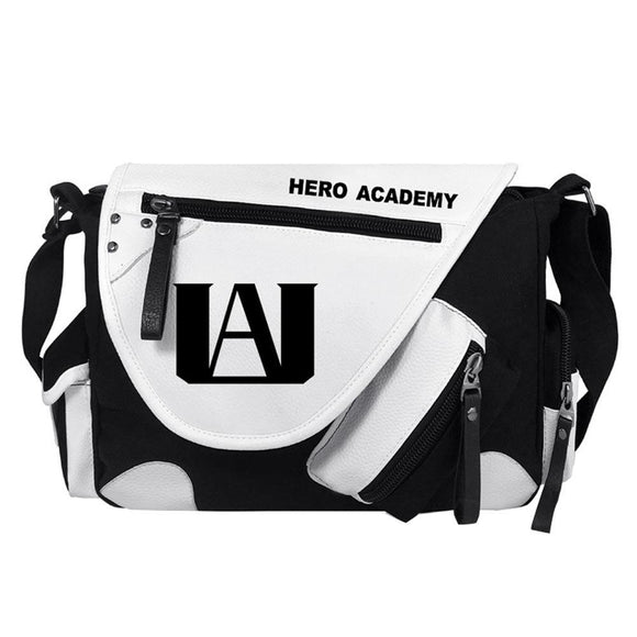 Anime My Hero Academia Single shoulder Canvas PU Black White B-Fandomsky