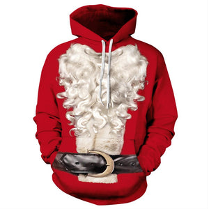 Unisex Long Sleeve 3D Digital Print Pullover Hoodie Sweatshirt-Fandomsky