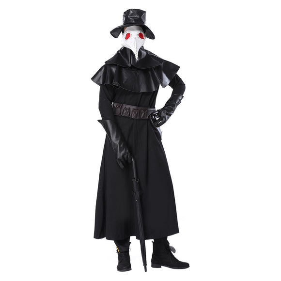 Adult Plague Doctor Steampunk Costume for Halloween Cosplay Halloween Costume Set