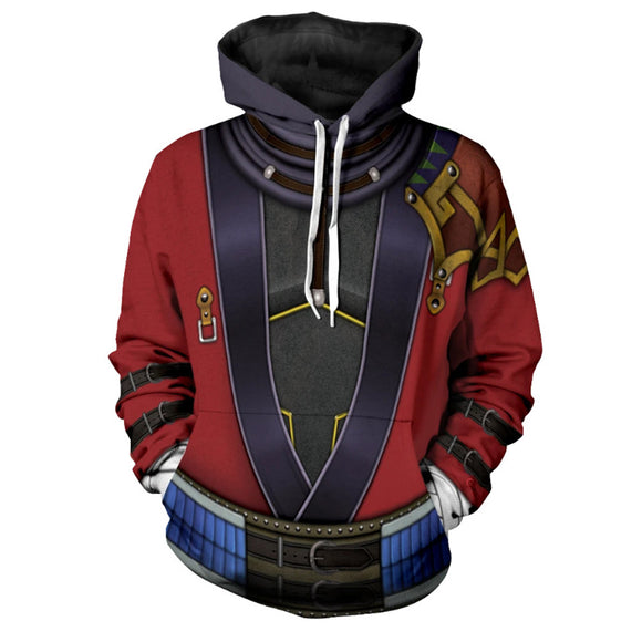 Unisex Auron Cosplay Hoodies FINAL FANTASY X Pullover 3D Print Jacket Sweatshirt