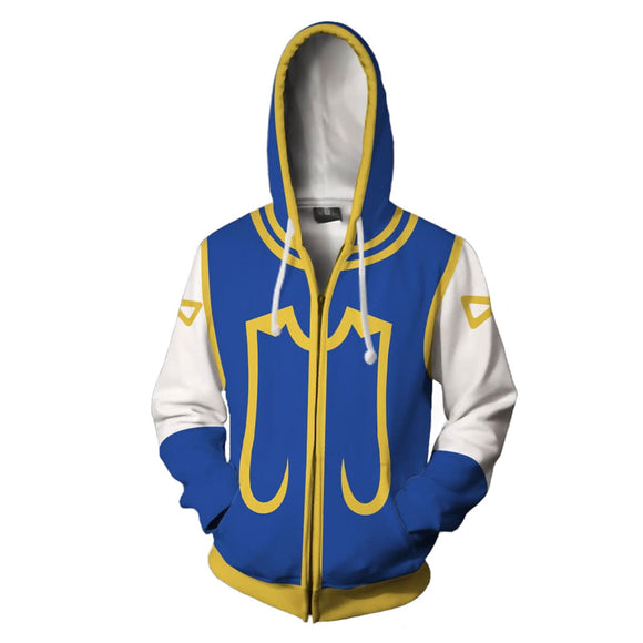 Unisex Kurapika Cosplay Hoodies HUNTER×HUNTER Zip Up 3D Print Jacket Sweatshirt
