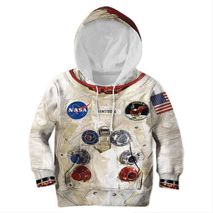 Kids Casual Astronaut Spacesuit Outfits Halloween 3D Armstrong Space Hoodies Sweatshirt