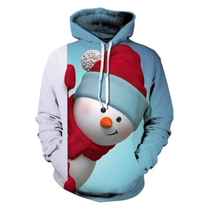 Unisex 3D Ugly Christmas Pattern Pullover Novelty Hoodies-Fandomsky