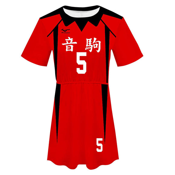 Haikyuu!! Kozume Kenma Cosplay Dress Women Summer Short Sleeve Cosplay Costume