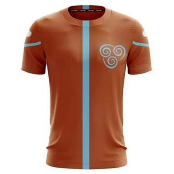 Unisex Avatar: The Last Airbender T-shirts Aang Cosplay Costume 3D Print Casual Shirt