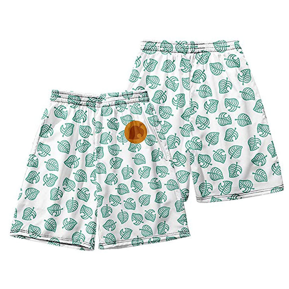 Unisex Animal Crossing Summer Beach Shorts Pants Tom Nook Cosplay Shorts Casual Short Pants