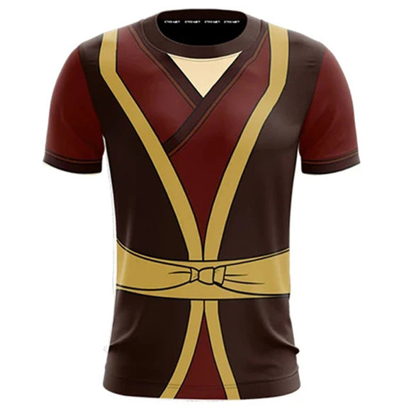 Unisex Avatar: The Last Airbender T-shirts Zuko Cosplay Costume 3D Print Casual Shirt