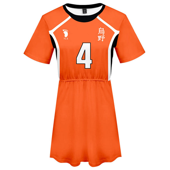 Haikyuu!! Nishinoya Yuu Cosplay Dress Women Summer Short Sleeve Cosplay Costume