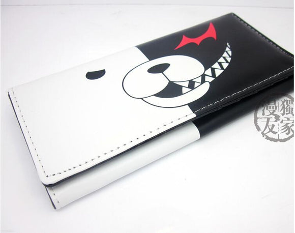 Danganronpa Monokuma Wallet RFID Blocking Large Capacity Clutch Wallet Card Holder Organizer Purse-Fandomsky